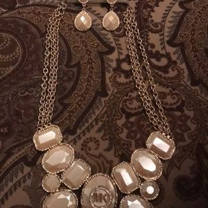 MK necklace and earrings